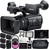 "Sony PXW-Z150 4K XDCAM Camcorder + Atomos Ninja Flame 7"" 4K HDMI Recording Monitor 17PC Accessory Kit Includes 64GB SD Memory Card + 4 Replacement F970 Batteries + MORE"