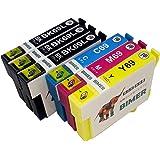 EPSON エプソン IC4CL69「6本セット」(4色セット+2本) ICBK69(ブラック増量) 染料 互換インクカートリッジ 対応機種:PX-436A PX-435A PX-405A PX-046A PX-045A PX-105 PX-505F PX-535F