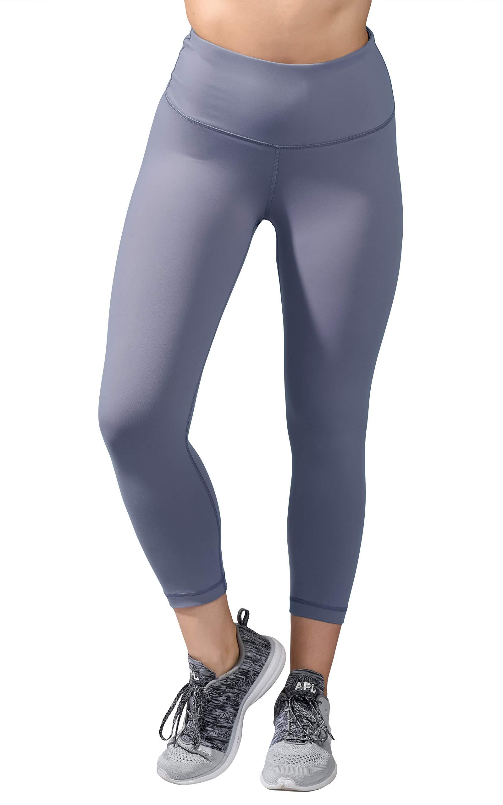 90 Degree By Reflex - High Waist Tummy Control Shapewear - Power Flex Capri - Blue Granite - Medium by 90 Degree By Reflex
