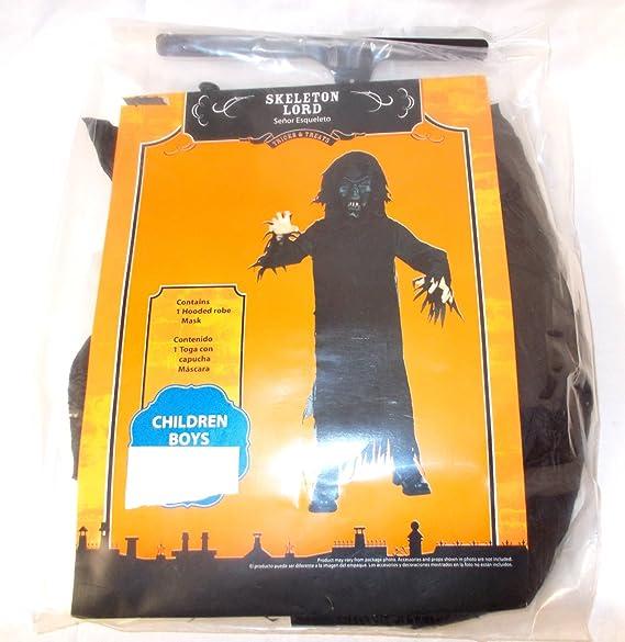 Skeleton Lord Black Boys Costume NWT 10-12