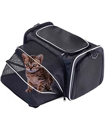 Louvra Sac De Transport Avec Cage Extensible Pliable Démontable En Oxford  Lavable Bandoulière Ajustable Design Robuste 3cff05e69089