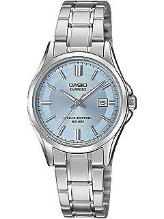 Damen 100d Lts Armband Analog Edelstahl Casio Uhr Mit 7avef Quarz 0OPknw