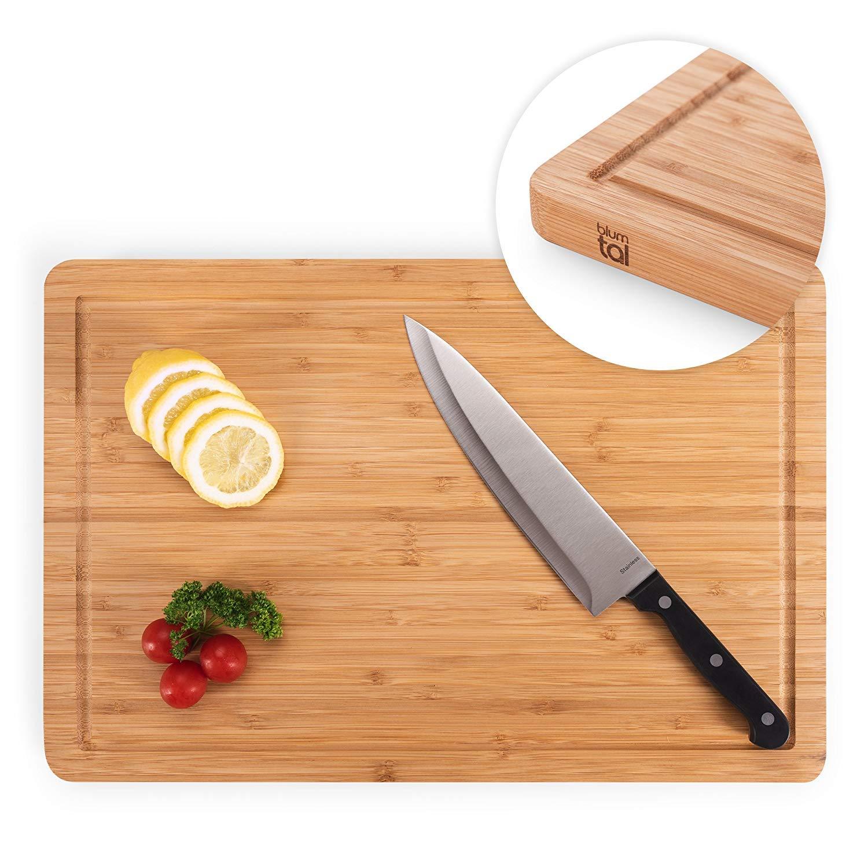 Blumtal Cutting Board, Wooden Chopping Board, Butcher Board (45 x 23 x 2 cm or 38 x 25 x 2 cm) Everbrent