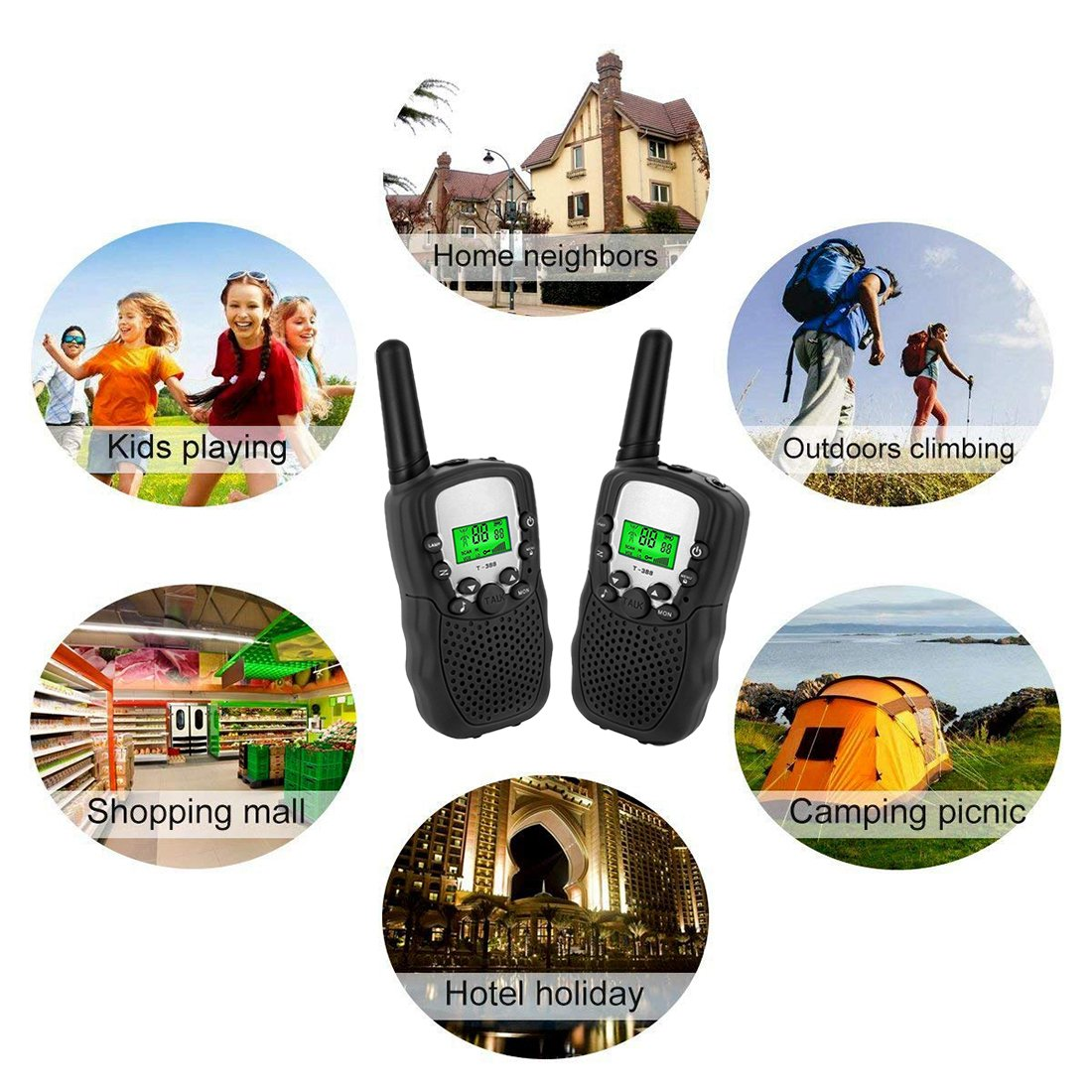 Joyjam Toys for 3-12 Year Old Boys Kids Walkie Talkies 2 Miles Long Range Kids Outdoor Games Birthday Gifts for 5-8 Year Old Boys Black - 1 Pair by Joyjam (Image #7)