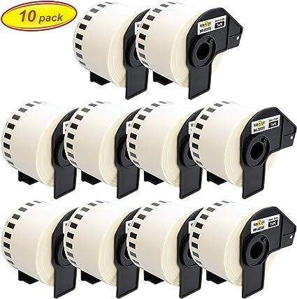 DK-22223 50 mm x 30,48 m Compatibile Etichette Nastro adesive continuo per Brother P-Touch QL-1110NWB QL-1100 QL-1060N QL-500 QL-500A QL-500BW QL-570 QL-580 QL-700 QL-710W QL-800 QL-810W QL-820NWB