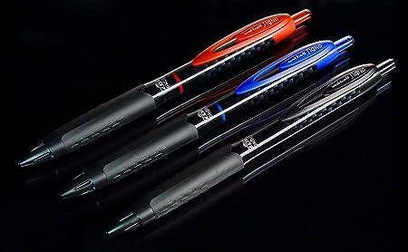 6 Pack UMN-307 Black Fine Retractable Rollerball Pen Uni-Ball Signo 307