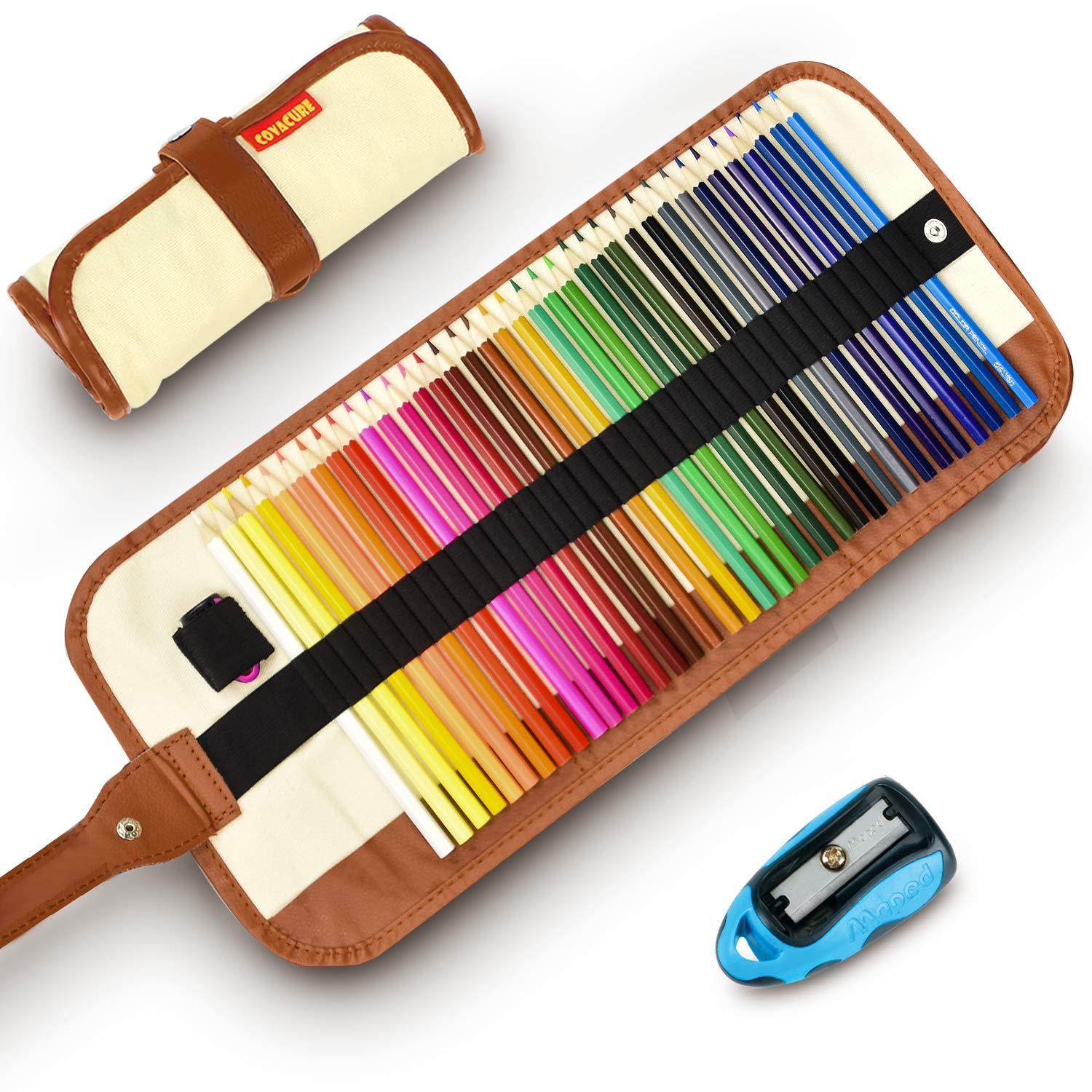 Colored Pencils Set for Adult and Kids - COVACURE Premier Color Pencil Set With 36 Colouring Pencils Sharpener and Canvas Pencil Bag for Kids and Adult Coloring Book. Ideal for Christmas Gifts by Covacure