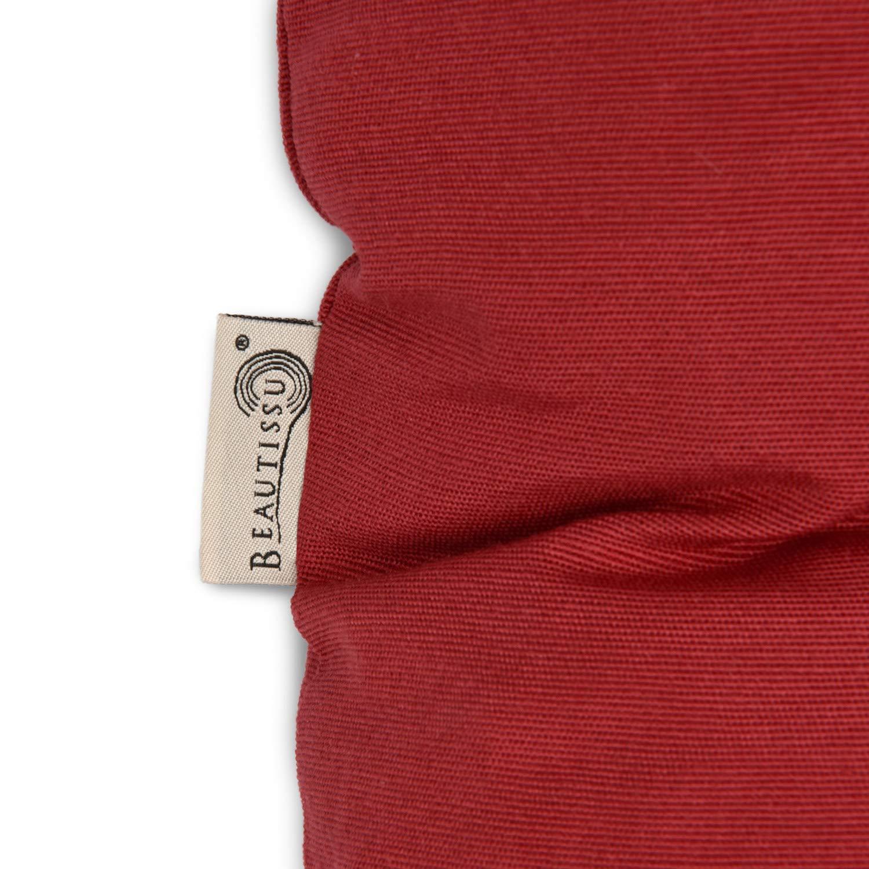Beautissu Cojines para palés Eco Style - Cojín de Asiento 120x80x15 cm - Color: Rojo - Cojín: Asiento