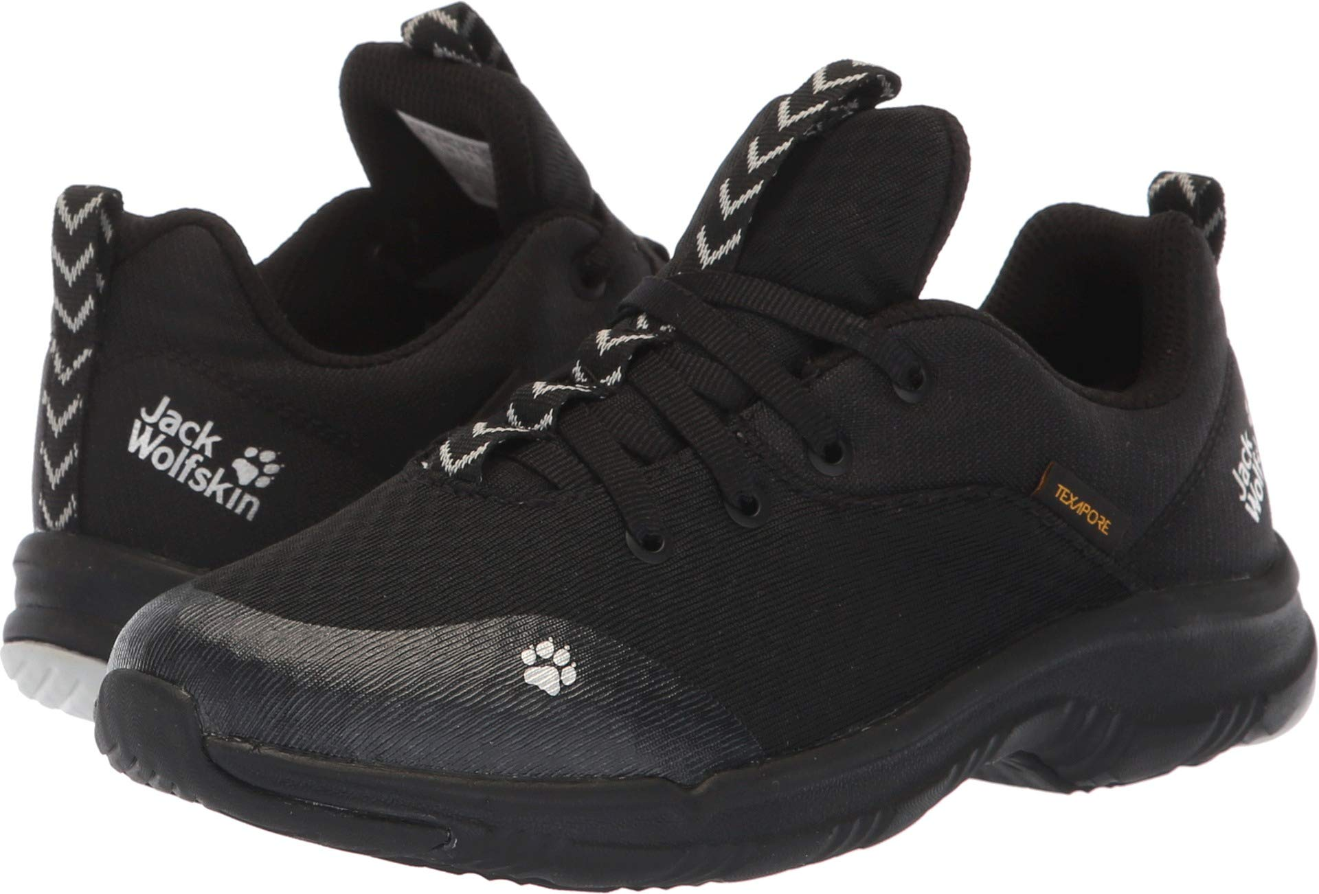 Jack Wolfskin Kids Unisex Phoenix Texapore Low (Toddler/Little Kid/Big Kid) Black 33 M EU