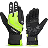 INBIKE Cycling Gloves for Men Winter Windproof Reflective Thermal Gel Pads Touch Screen