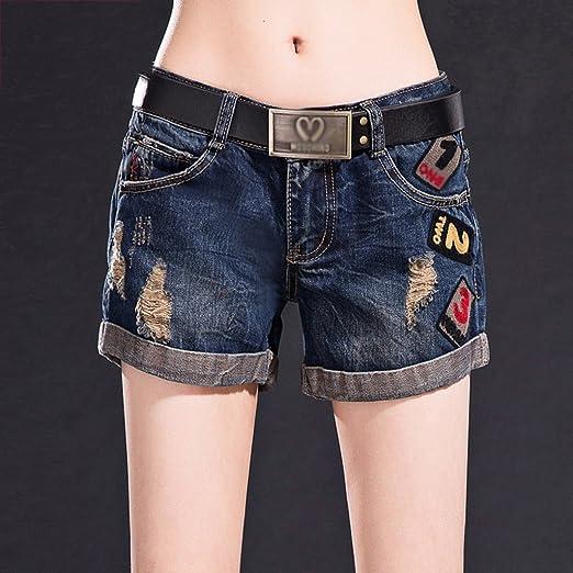 Pantalones Cortos de Mezclilla Cierres Sueltos Ms Shorts Calientes ...