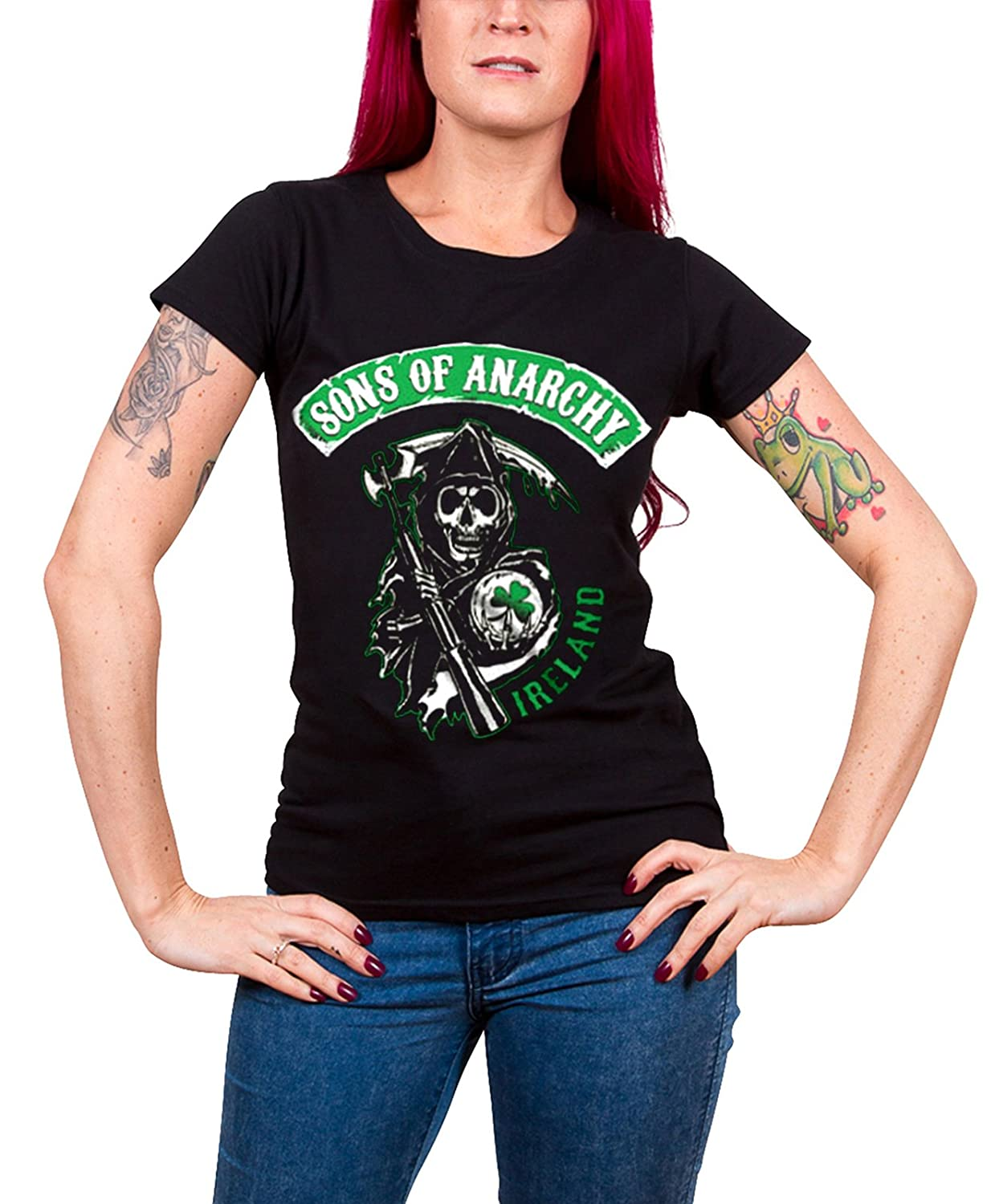 Sons of Anarchy SOA I HEART JAX Licensed Adult Heather T-Shirt All Sizes
