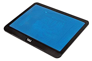 Storite ADnet Super Silent Premier Quality 638 B High Cooling Pad with 1 Big Fan at 1200RPM,2 USB Ports,Fan Control Button /& 1 USB Cable for All Notebooks//Upto 17 Laptops//All Tablet Blue