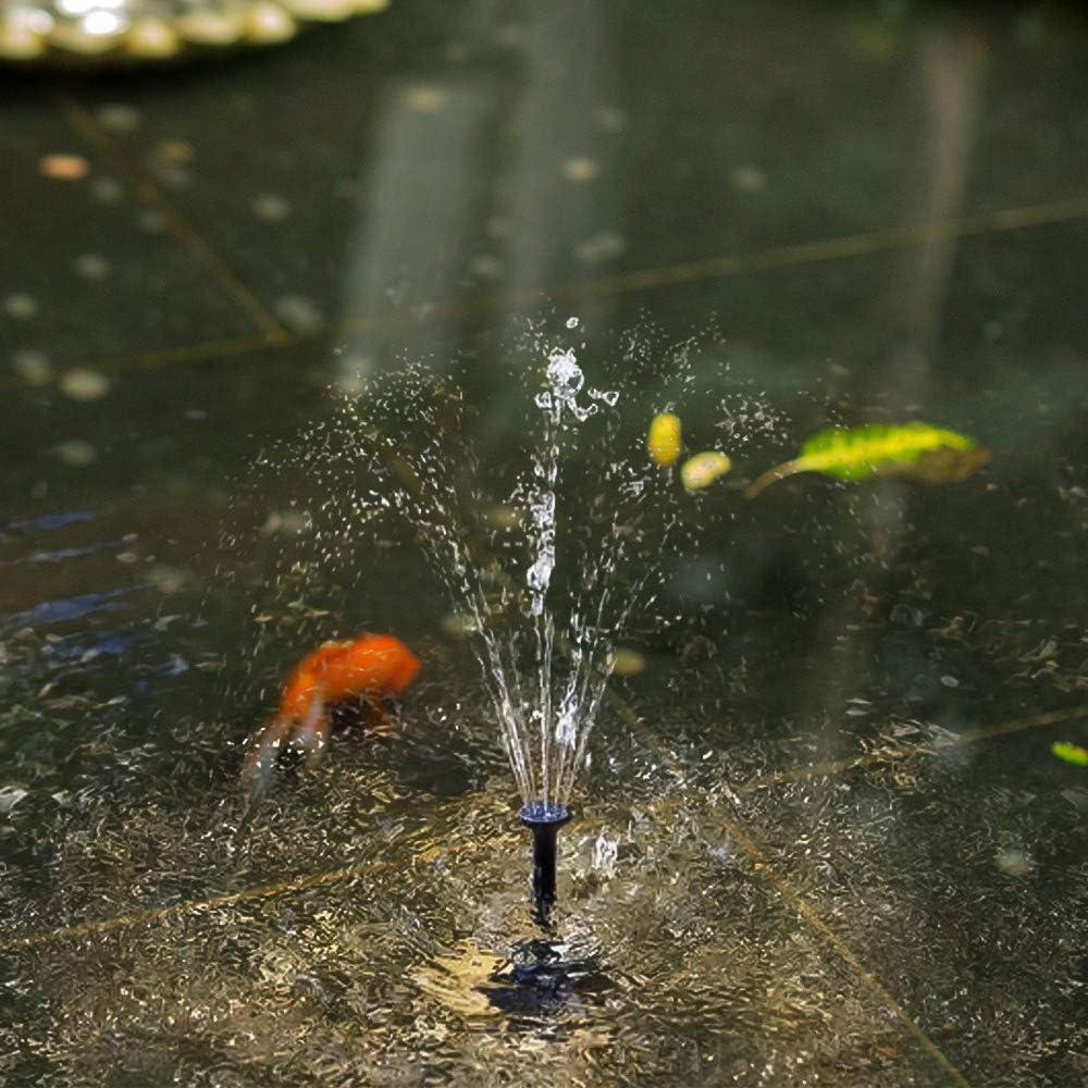 Fuente Flotante para decoraci/ón de jard/ín de Estanque de Acuario Bomba de Agua Solar Bomba de Fuente Solar de 2W HITECHLIFE Bomba de Fuente de energ/ía Solar