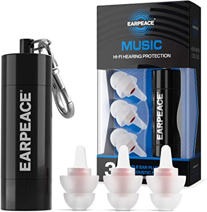 Standard Size Noise Cancelling Ear Plugs for Sleeping EarPeace Sleep Ear Plugs Reusable Sound Blocking Ear Plugs for Snoring