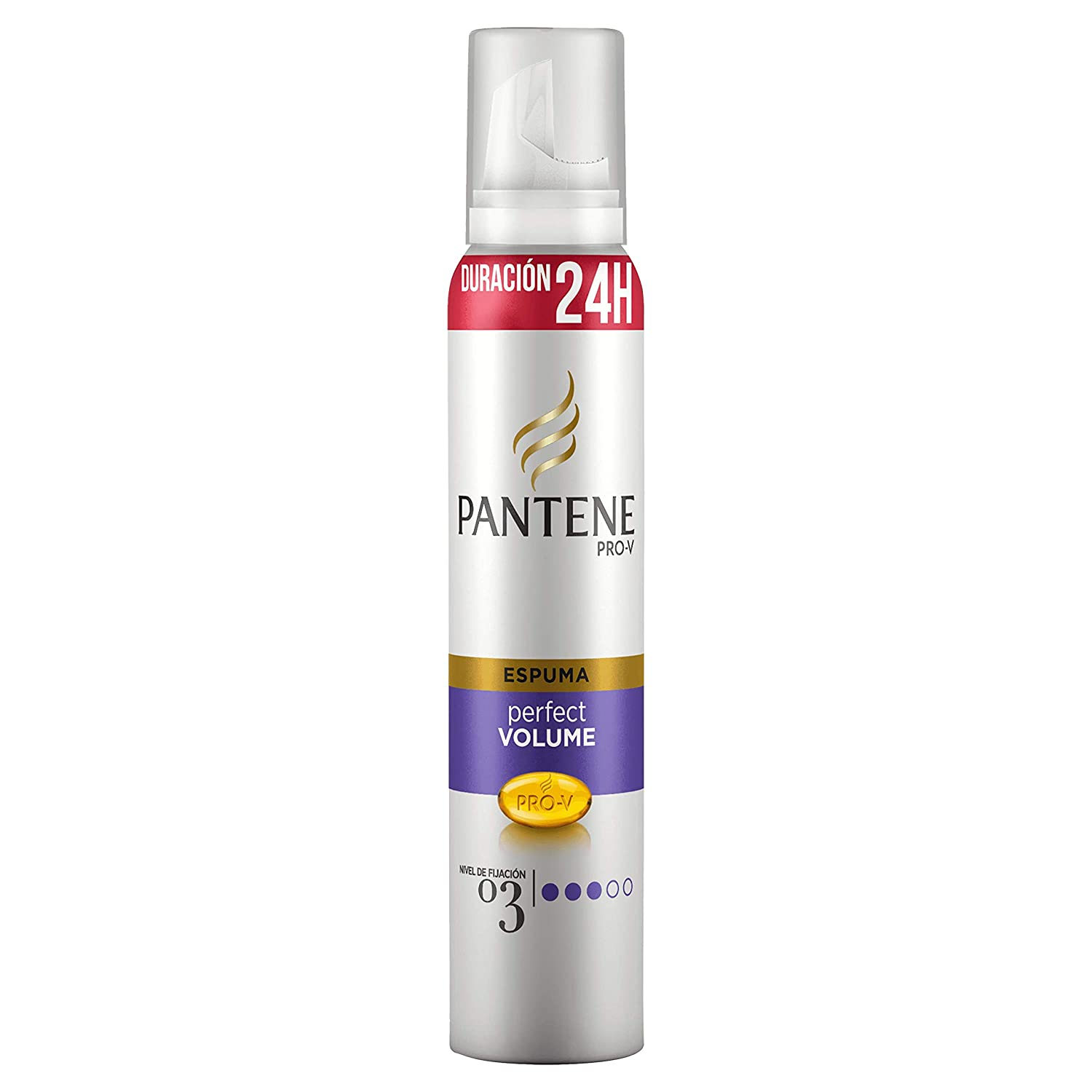Pantene Pro-V Espuma ligera Perfect Volume, nivel de fijación 3, 24 H de duración - 250 ml: Amazon.es