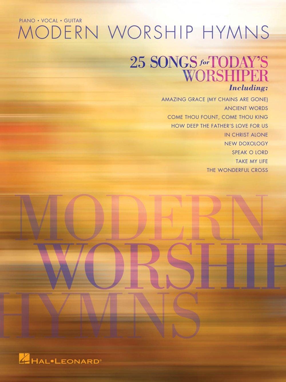 Amazon Hal Leonard Modern Worship Hymns 25 Songs For Todays