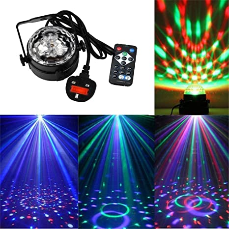 Disco Ball luces, sansee geführter Disco de pelota iluminada de DJ ...