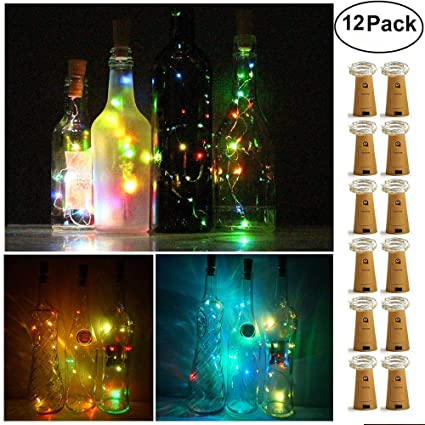 Glow Party Supplies 15leds Lamp Cork Shaped Bottle Stopper Light Glass Wine Colorful Led String Lights For Bar Xmas Party Wedding Home Decoration Home & Garden