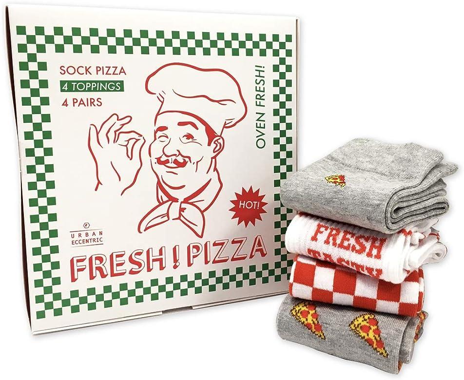 Juego de calcetines de pizza, 4 pares, calcetines unisex ricos en algodón: Amazon.es: Ropa y accesorios