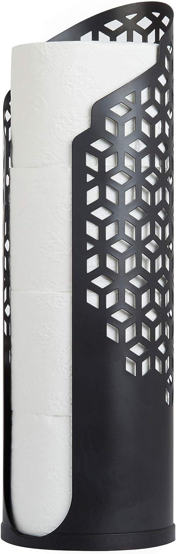 Better Living Products 53688 ROLLO Hexacube Toilet Tissue Holder, Matte Black