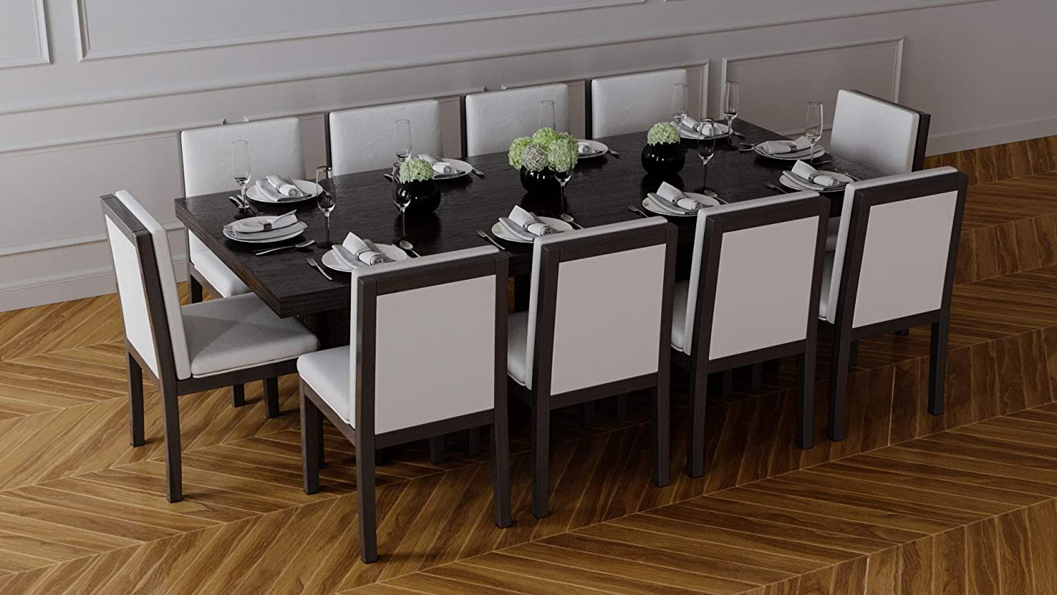 Chicomo Sorrento Dining Set with 9 Chairs, Dining Table and 9 ...