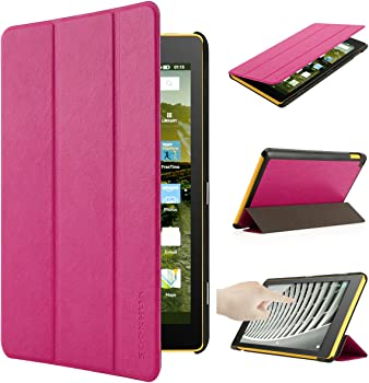 Oenbopo PU Leather Folio Smart Case for Fire HD 8 Tablet