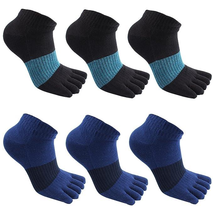 GINZIN Hombres Deportes Cinco calcetines del dedo del pie 5-6 pares, cinco calcetines de los dedos, calcetines de deporte (3#): Amazon.es: Ropa y accesorios