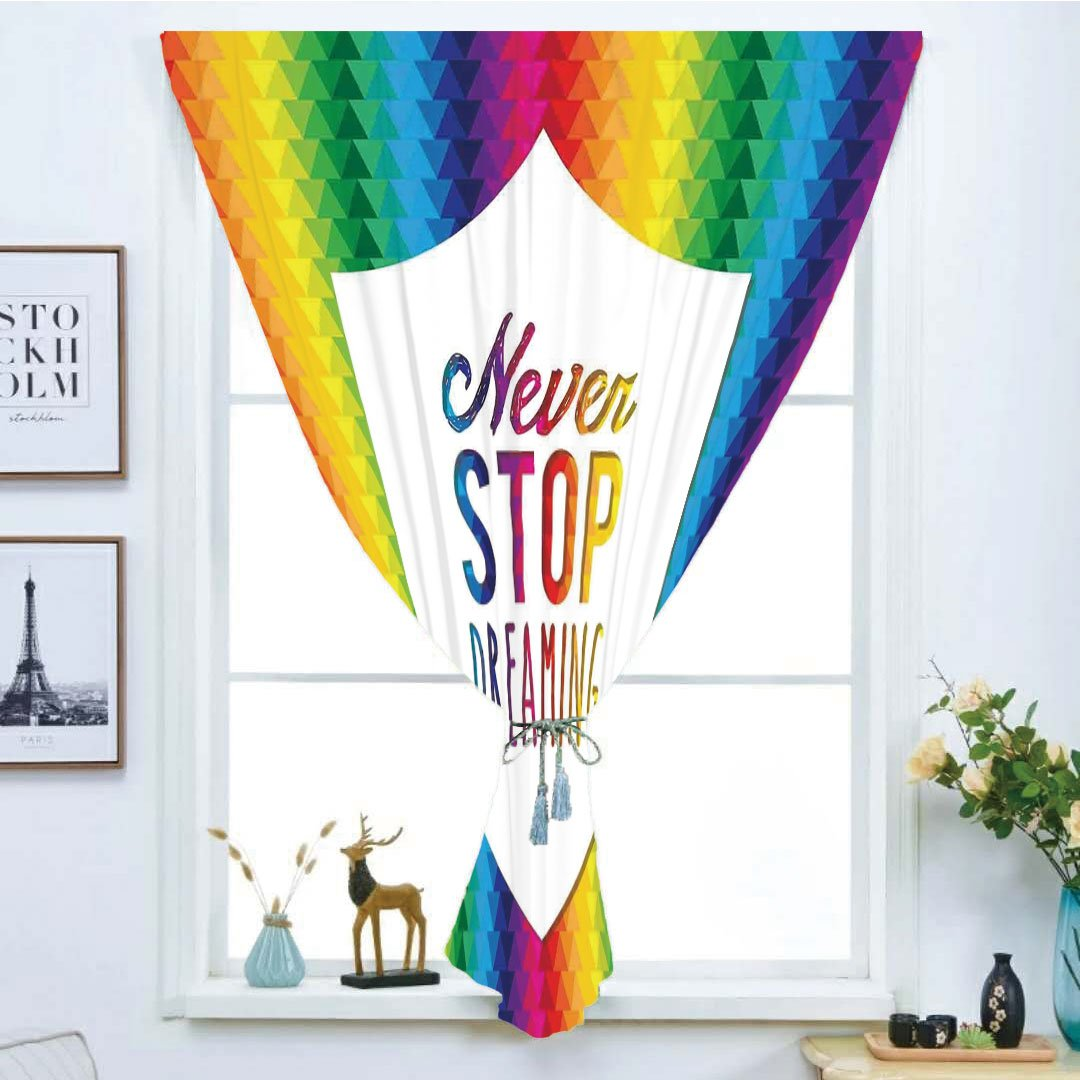 iPrint Blackout Window Curtain,Free Punching Magic Stickers Curtain,Quote,Abstract Scenery on The Cross Scenery Curtain,Quote,Abstract with Message of Inspiration Colorful Dreamy Display,Multicolor,Paste Style,for Living Room B07HCL1935 Fashion Sneakers 80dac9