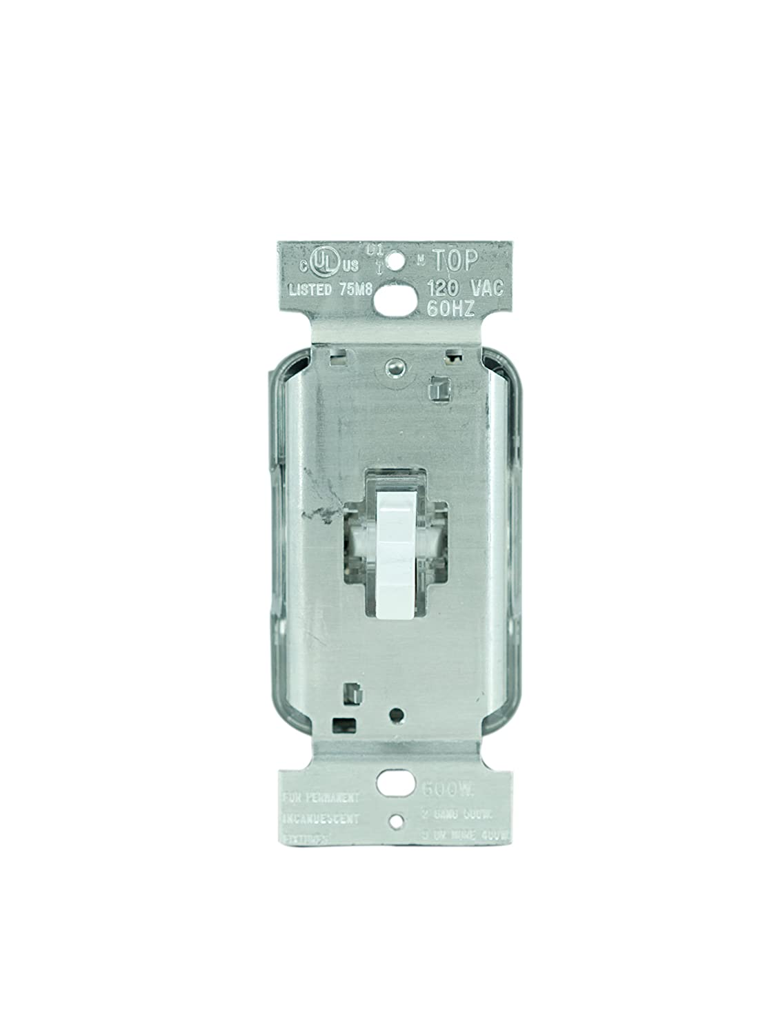 Legrand - Pass & Seymour T600LWV Lighted Toggle Dimmer Switch, 600 ...