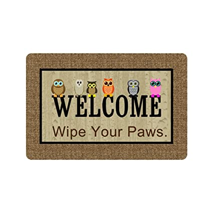 Amazoncom Blackforestq Personalized Wipe Your Paws Welcome Door