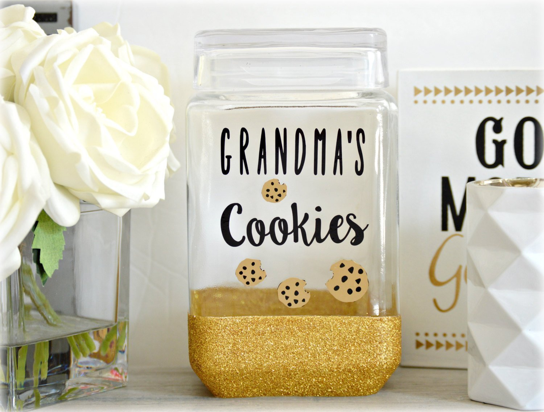 Amazon.com: Cookie Jar, Grandma Cookie Jar, Glitter Cookie Jar ...