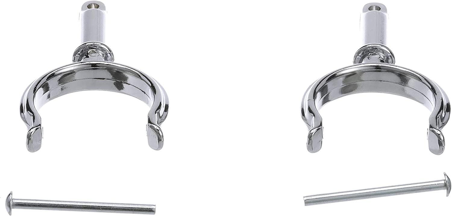Seachoice 70501 Top-Mount Rowlock Horns Set – Chrome-Plated Zinc – Includes 2 Rowlocks with Locking Pins