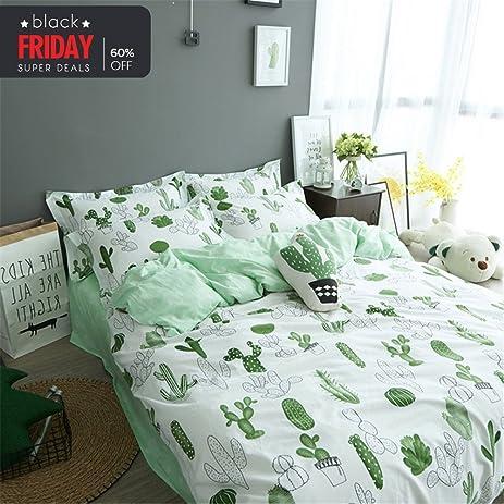 vclife cotton bedding sets cactus print duvet cover sets home decor 90u0026quot x 90u0026quot