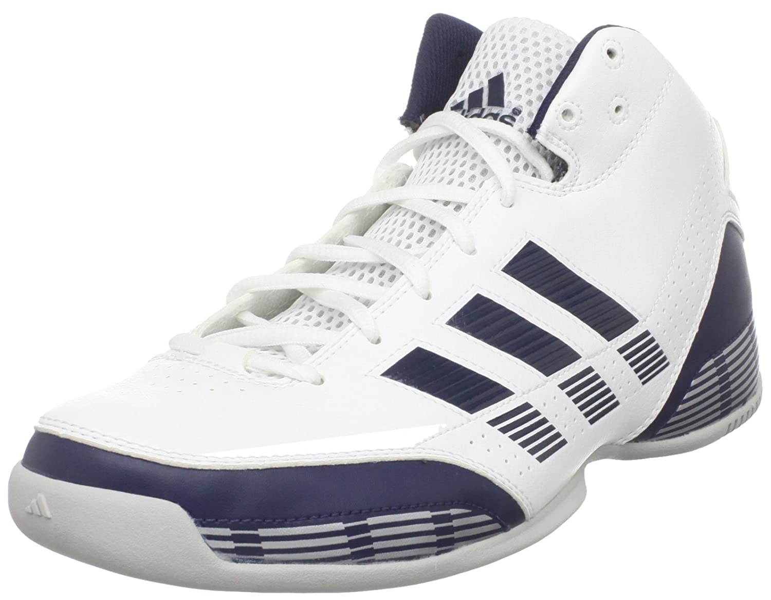Amazon.com | adidas Men's 3 Series Light Basketball Shoe, Running  White/Dark Indigo/Metallic Silver, 6.5 D US | Running