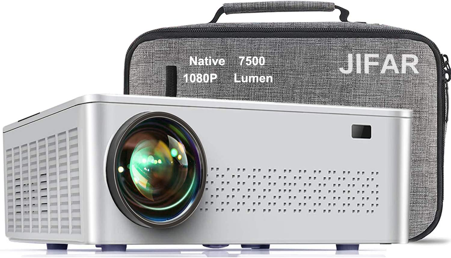 Native 1080P Projector,7500 L Projector for Outdoor Movies with 400