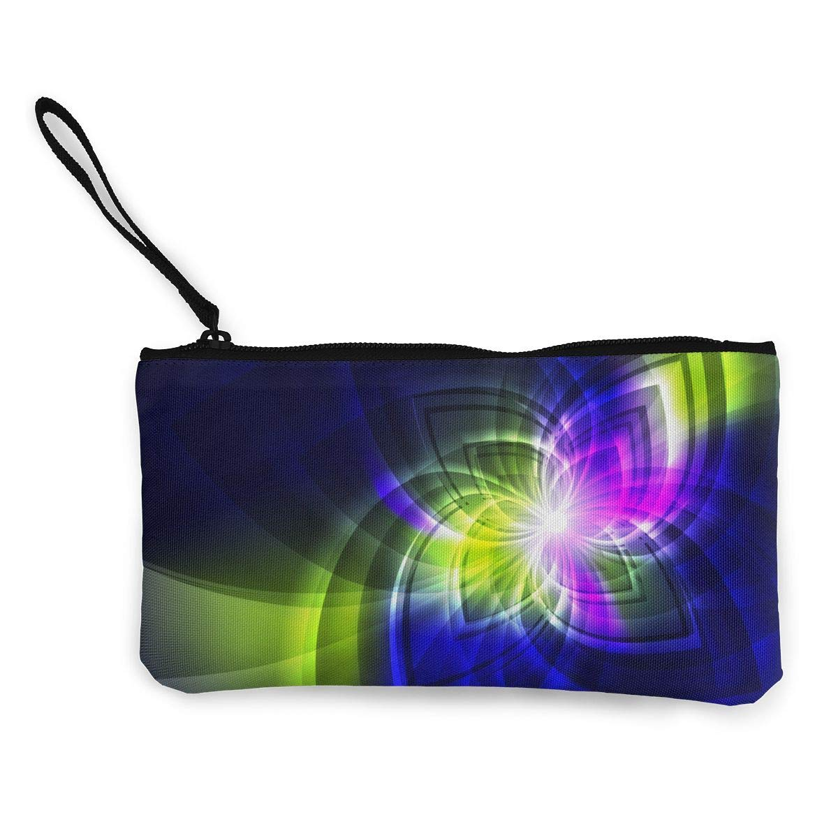 Art Print Coin Purse Makeup Bag Zip Canvas Purse Wallet Pocket Handbag
