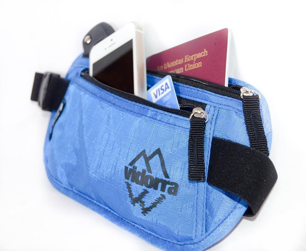 Cinturón monedero y candado de combinación para viaje, pack de 2, cartera oculta con cinturón para pasaporte y candado aprobado TSA para una seguridad ...