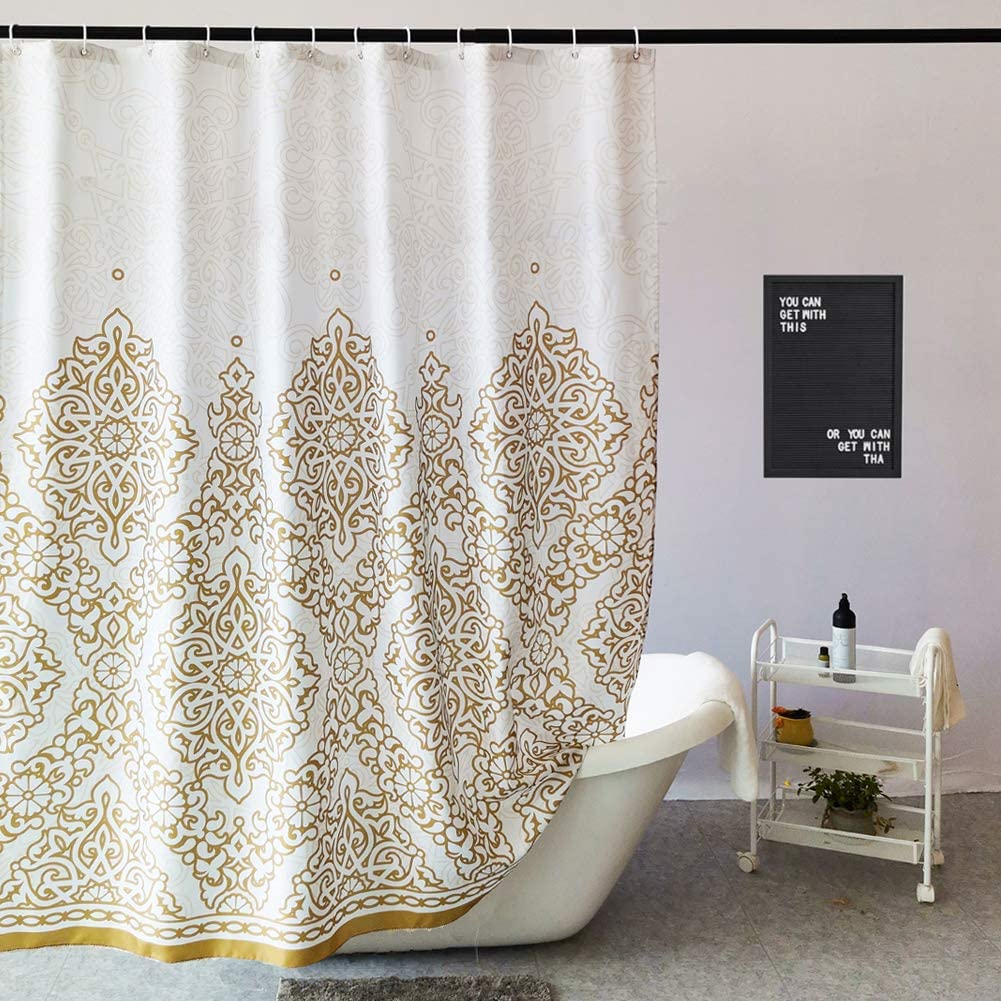 gold shower curtain bed bath and beyond
