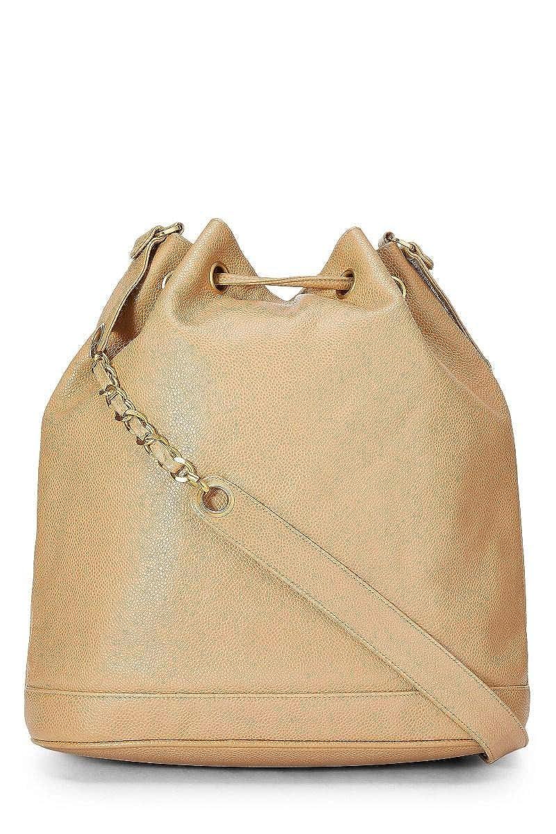 abd4997737ae CHANEL Beige Caviar Bucket Bag Large (Pre-Owned)  Handbags  Amazon.com