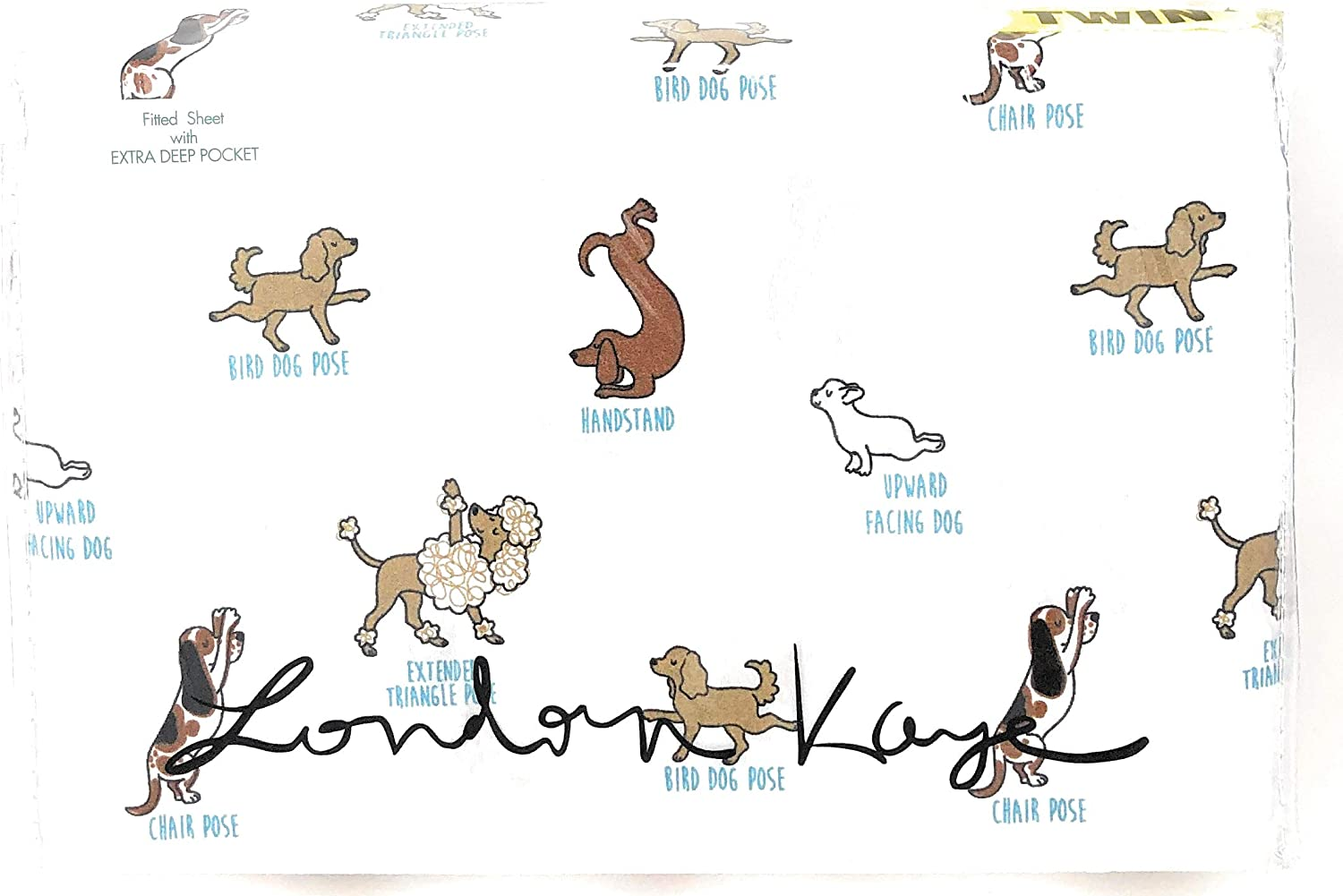 Amazon.com: London Kaye Various Dogs, Puppies Doing Yoga Poses 31