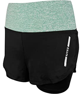 abad1286745e2 La Dearchuu Slim UK Size 6-12 High Waist Running Shorts Womens 2 in 1  ladies sports shorts…