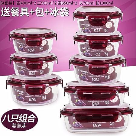 Una caja especial para horno microondas de vidrio resistente al ...