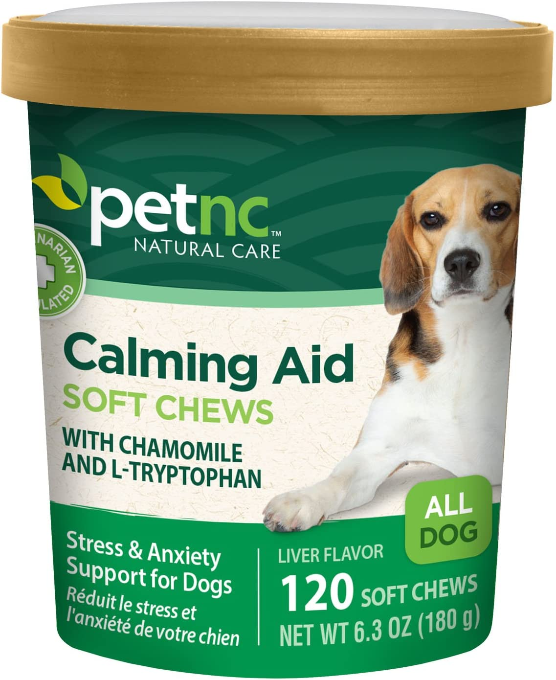 PetNC Natural Care Calming Aid Soft Chews Dog Supplement