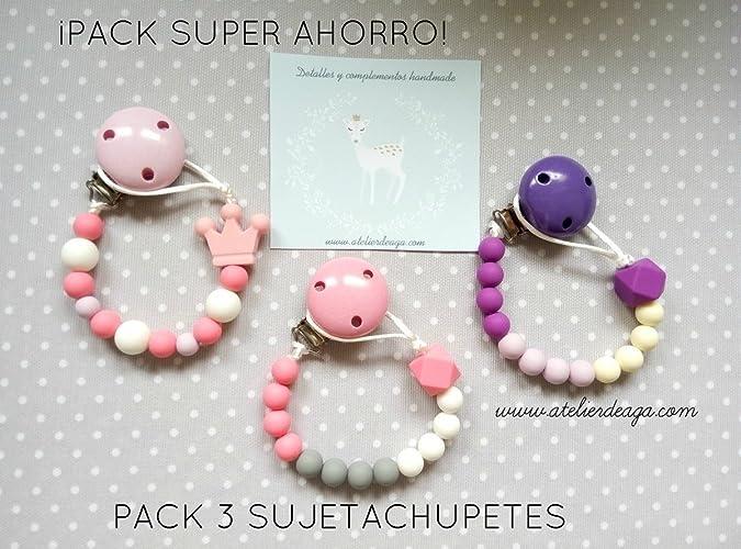 PACK SUPER AHORRO - 3 SUJETACHUPETES de silicona alimentaria ...