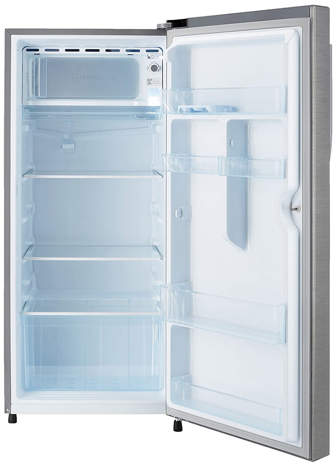 Haier 195 l 4 star direct cool single door refrigerator hrd 1954bs haier 195 l 4 star direct cool single door refrigerator hrd 1954bs ehed 20fdsbrushed silverdazzle steel amazon home kitchen fandeluxe Choice Image