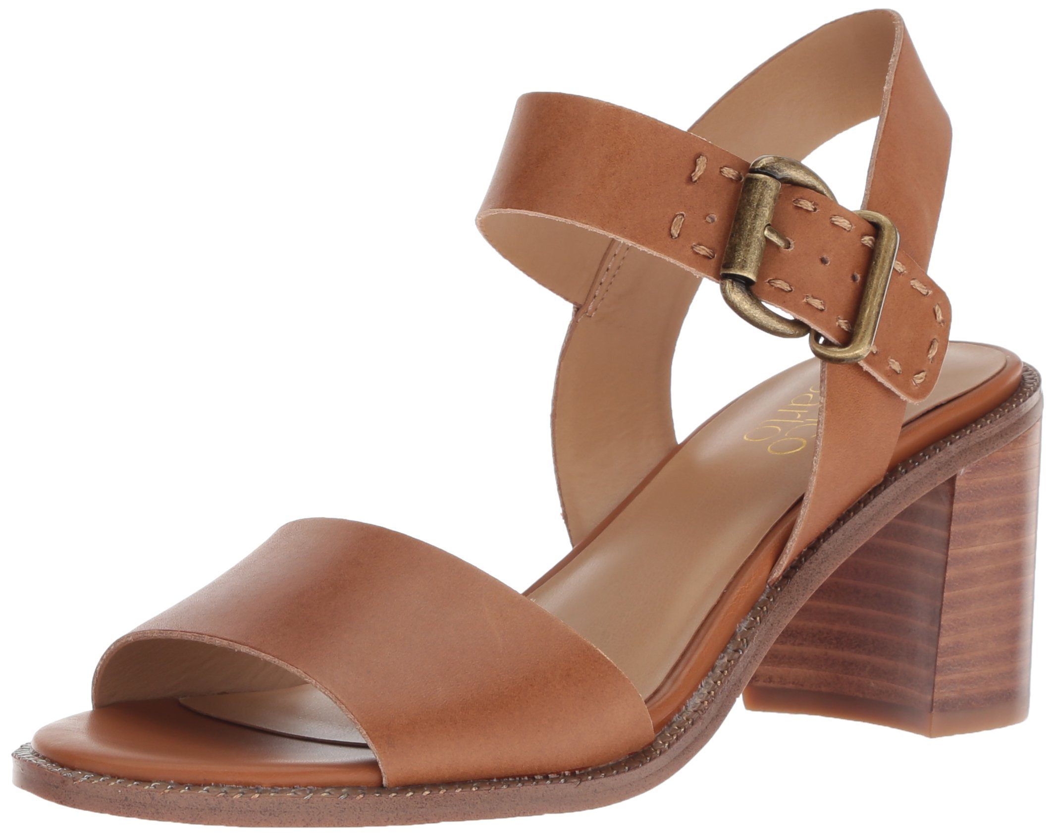 Franco Sarto Women's Havana Heeled Sandal, tan, 5 M US