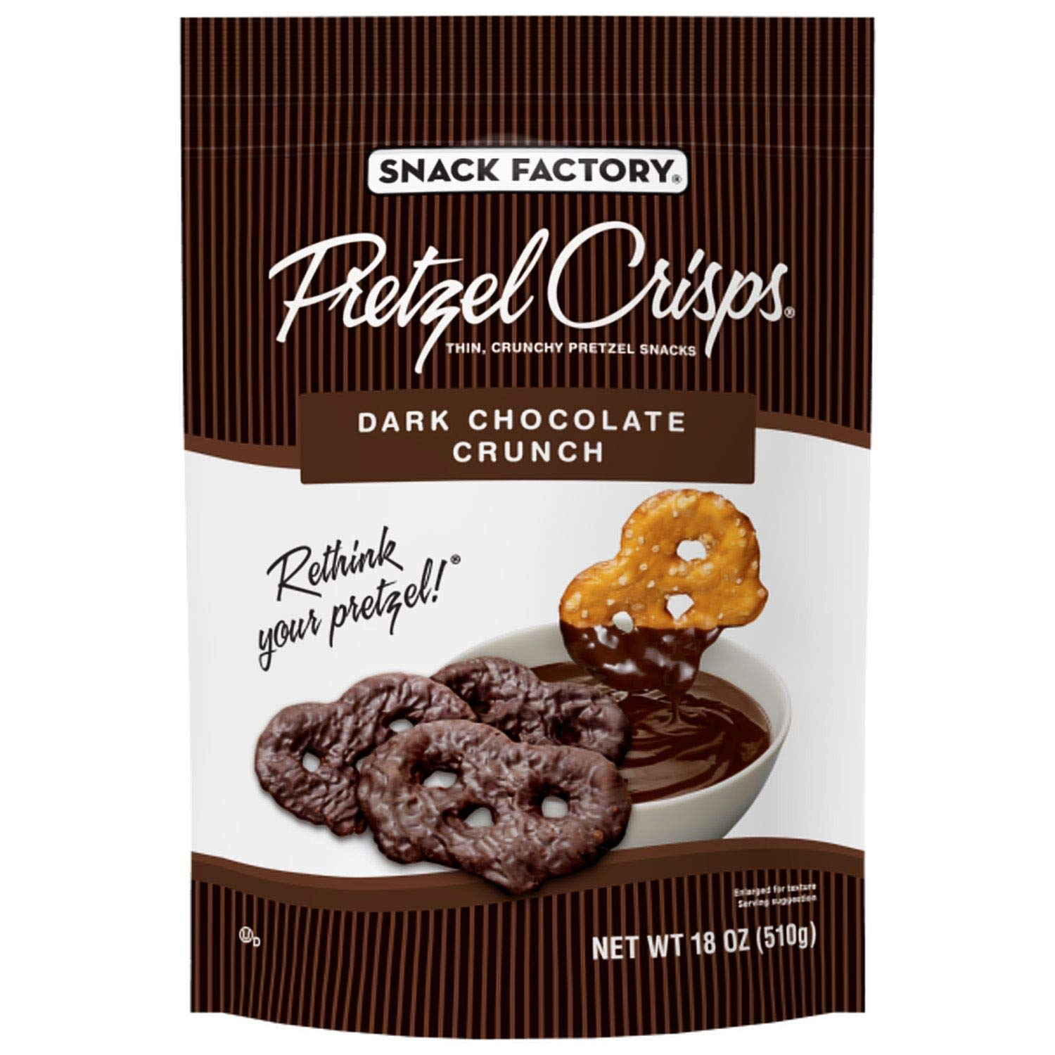 Snack Factory Pretzel Crisps, Dark Chocolate Crunch 18 oz. (pack of 3) A1