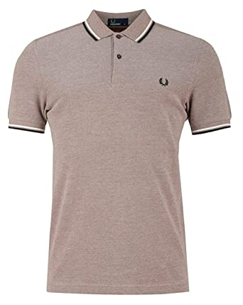 268e9c71b Fred Perry Men s Twin Tipped M3600 Polo Shirt Light Red  Amazon.co ...
