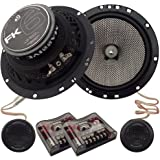 Massive Audio FK6-6.5 Inch, 320 Watts Max Hi Quality Component Speakers, FK Series, 20mm Aluminum Dome Ferro Fluid, 12dB Linksworth Riley Crossover, 4 Ohm (Sold AS Pair)